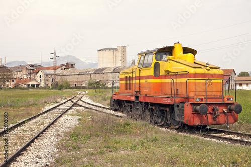 vecchio locomotore diesel