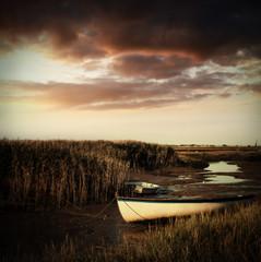 dusk rowboat