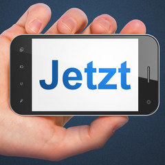 Time concept: Jetzt on smartphone