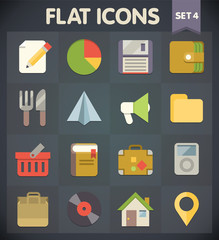 Universal Flat Icons for Web and Mobile Applications Set 4