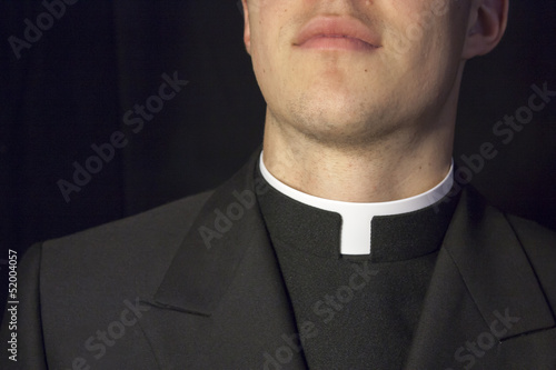 Close-up of Priest collar