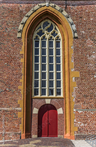 Red church door