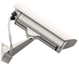 Video surveillance cctv camera, grey isolated large closeup
