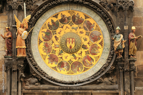 Medieval astronomical Clock in Prague on Old Town Hall