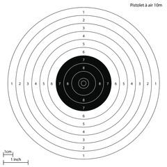Cible officiel de tir au pistolet à 10 mètres