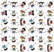 seamless pattern mixed children