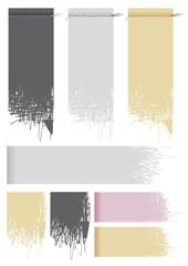Etichette stoffa scucite in vari colori