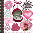 pink wedding elements set