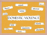 Domestic Violence Corkboard Word Concept