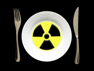 assiette radioactive