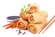 Fresh vegetarian spring rolls