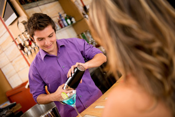 Barman preparing cocktail