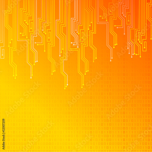 Abstract orange lights background