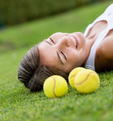 Thoughtful tennis player