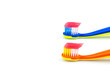 Toothbrushes with toothpaste