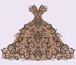 Wedding floral dress, vector illustration