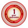 Label on 1 year guarantee