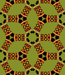 Boomerang Seamless Pattern on light green background