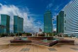 Water Green Boulevard in Astana. Kazakhstan poster