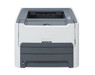 Laser printer isolated with clipping path