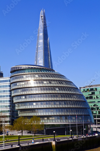 City Hall and the Shard in London