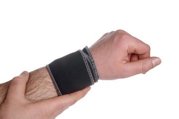 Hand with bandage