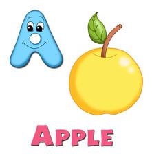 alfabeto, mela