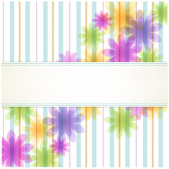 ストライプ 背景 Stripe floral background with copy space