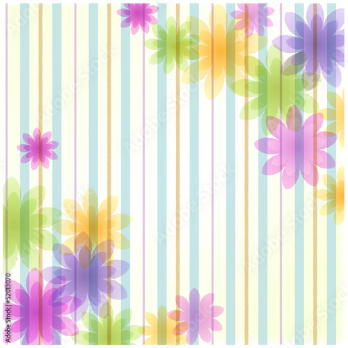 ストライプ 背景 Stripe floral background