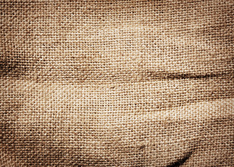 Old dirty burlap texture