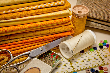 tools for patchwork in yellow