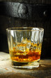 Close up of a glass of whiskey