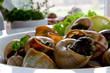 Escargots de Bourgogne (snails with herbs butter)