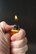 Burning cigarette lighter