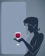 handsome man drinking red wine