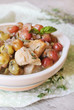 Pork stew with red grape, white wine