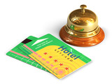 Reception bell and hotel cardkeys