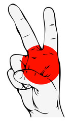 Peace Sign of the Japanese flag