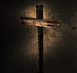 Stary drewniany krzyż
