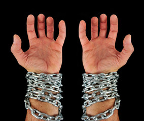 hands with chains