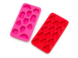 colorful silicone ice trays