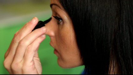 Woman paints her eyelashes /episode 2/