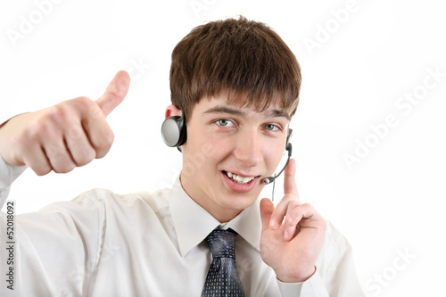 Young Man with Headset