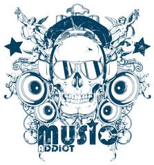 Music addict © Tshirt-Factory.com