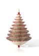 Render of a tree made with a pencil and its wooden shavings