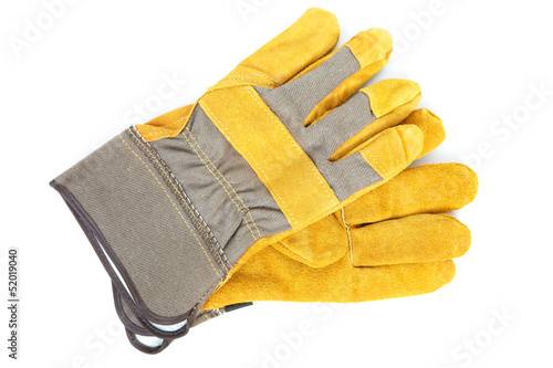 canvas print picture Leather gloves