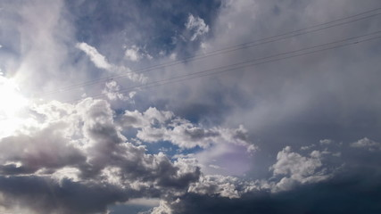 Rain clouds, rain passes. TimeLapse