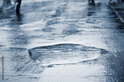 Leinwanddruck Bild Rain