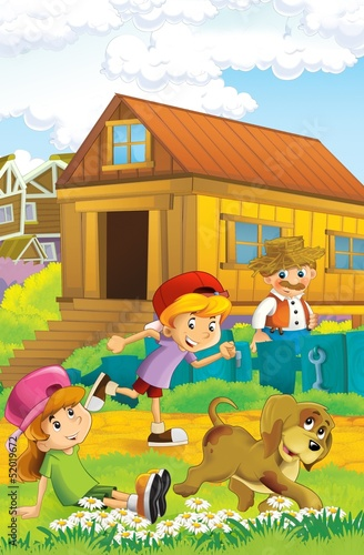 The farm illustration for kids