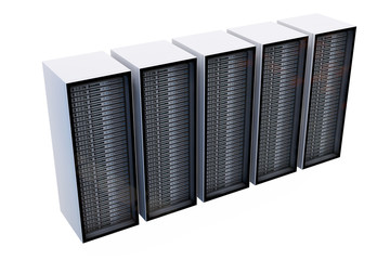 Server Racks - isoliert - 3D Render